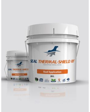 thermal insulating ceramic reflective coating for roofs
