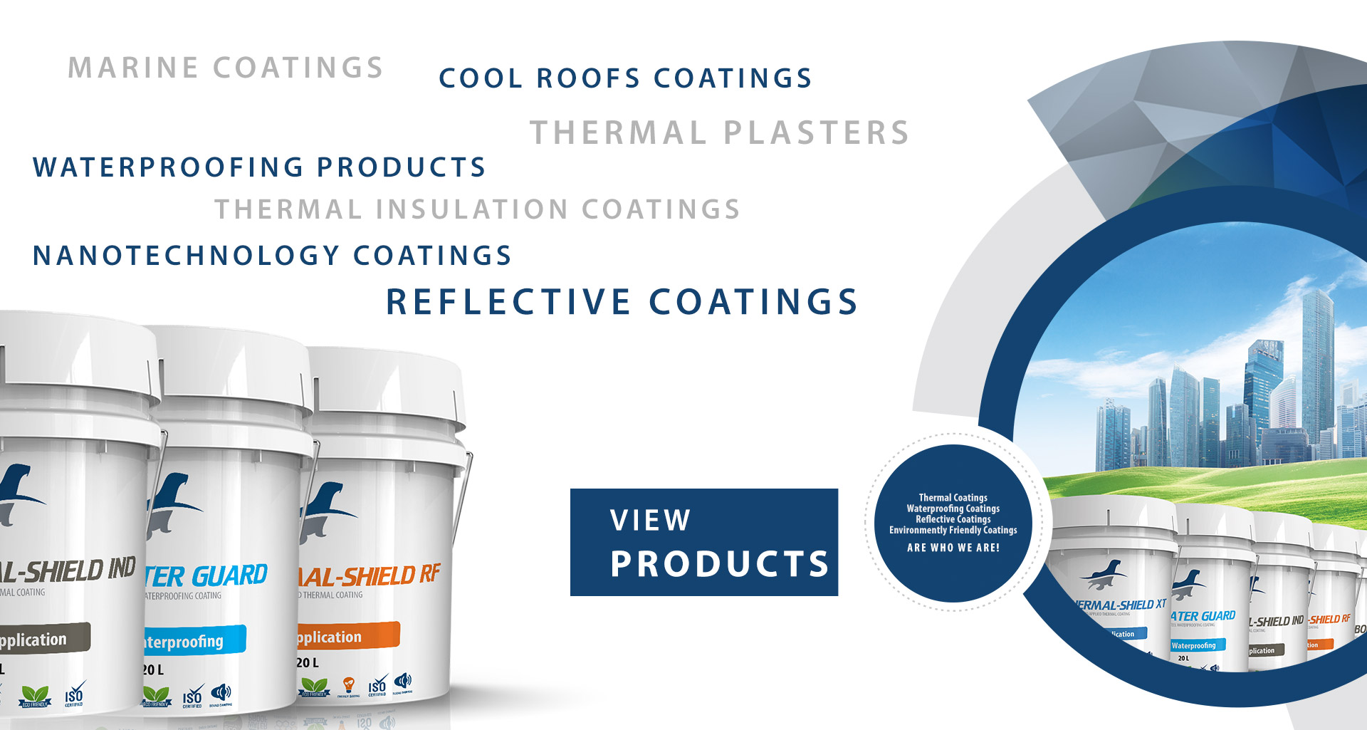 thermal insulation, marine,cool roofs coatings,industrial coatings